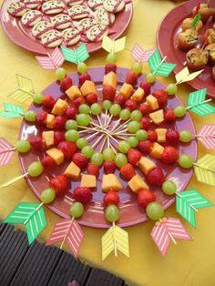 indianer geburtstag essen | Tolle Idee für den Kindergeburtstag.... gesund, witzig und bunt ...