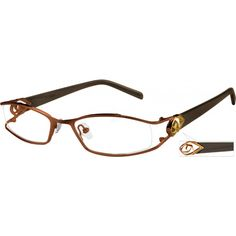 A partial-rim stainless steel frame with comfortable acetate temples....Price - $23.95
