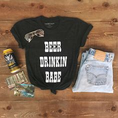 Last call for 20% OFF our Beer Drinkin Babe tee. Grab it before it's gone forever! Enter code BEERBABE at checkout