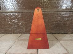 Nice vintage wood Seth Thomas metronome- functional, beautiful, solid by HeathersCollectibles on Etsy