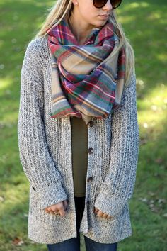 Fall Fashion | Zara Checkered Scarf