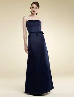 (HUNG001043)Sheath/Column Strapless Floor-length Bowknot Satin Bridesmaid Dress / Evening Dress / Prom Dress [200000084] - $134.99 : justlovedress.com