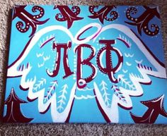 Pi Beta Phi Angel Wings Canvas on Etsy, $25.00