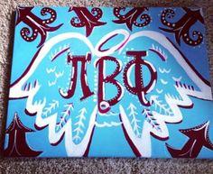 Pi Beta Phi Angel Wings Canvas on Etsy, $25.00