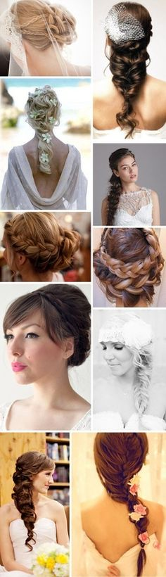 Beautiful hair styles for a wedding!