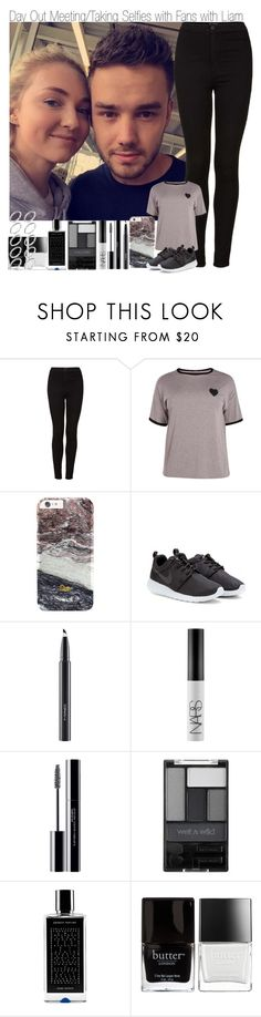 """Day Out Meeting/Taking Pictures with Fans with Liam"" by elise-22 ❤ liked on Polyvore featuring Topshop, Boohoo, NIKE, MAC Cosmetics, NARS Cosmetics, shu uemura, Wet n Wild, Agonist, Butter London and ASOS"