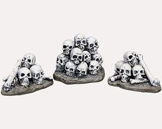 Miniature Fairy Garden Halloween Skull Piles - Set of 3 - Buy 3 Save $5 in Home & Garden, Yard, Garden & Outdoor Living, Garden Décor | eBay