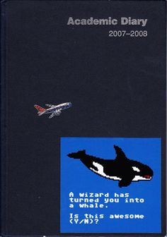 diary cover - whale sticker c/o Rich Jones