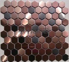 free shipping,  honeycomb pattern purple stainless steel metal mosaic tile purple hexagon metal tiles for wall and floor tiles