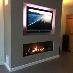 Recessed Tv Above Fireplace Cabinets Pinterest