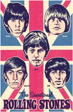 The Rolling Stones Pop Art Print by RedRobotCreative on Etsy, $25.00