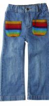 Rainbow Denim Pants - Spijkerbroek met gehaakte zakjes