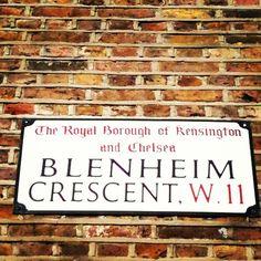 On the corner of Blenheim Crescent - Redistributing Fashion Luxury Pop Up Shop - Feb 2013