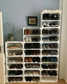 Bedroom Storage Ideas For Clothes, Bedroom Ideas, Diy Bedroom, Bedroom Boys, Closet Ideas, Diy Shoe Rack, Shoe Racks, Best Shoe Rack, Diy Shoe Storage