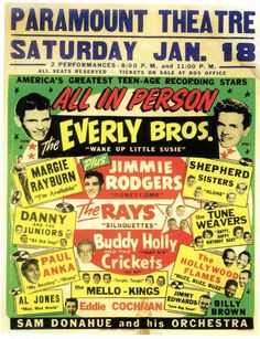 rock and roll  everly brothers The next day is Phil's 19th borthday