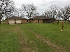 331 CR 272 County Road Bremond TX 76629 by RE/MAX Bryan College Station 17003267 1,980sq. ft., 3 bed, 1 1/2 bath brick home, large living room, oversized kitchen, newer double oven in kitchen, large pantry and utility room, All new vinyl and carpet floor covering throughout the house, new hot water heater, newer HVAC, new shingles 2010, detached 2 car garage, Tri-County Water meter, maintained, Bermuda grass pasture, open storage shed , one very large nice pond, and one small one, Home is…