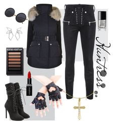 """""""Huntress"""" by red-wonder on Polyvore featuring K100 Karrimor, Unravel, Yeezy by Kanye West, W. Britt, Smashbox and Chanel"""