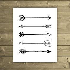 Arrow Print Hand Drawn Tribal Arrows Print by StudioPrintables