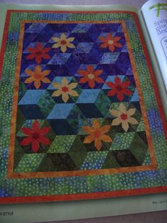 .I love the blocks. I did a mystery quilt like this that I use for a Christmas wall hanging.
