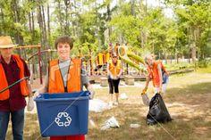 Clean up a park
