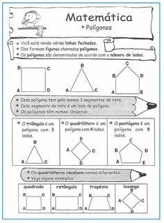 Polígonos – atividades  |   Rérida Maria Geometry Activities, Mathematical Model, Math About Me, Primary School, Art School, Mathematics, Sheet Music, Diagram, Classroom