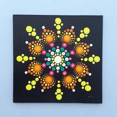Sunflower - inspired by Kristin Uhrig - Acrylic on canvas 15x15 cm