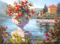 Remembering+Lake+Como,+painting+by+artist+Pat+Fiorello