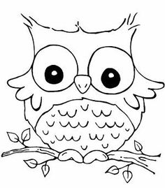 owl coloring pages for kids Pinteres