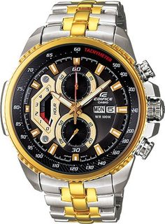 Round Dial Silver and Gold StrapStainless Steel Case Chronograph  FunctionWater ... 76e978ad9a