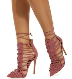 Mauve Tongue Tied Heel