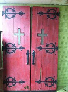 AMAZING Pair of Salvaged Vintage Church Doors