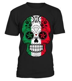 Italian Flag Sugar Skull with Roses  #Italian #hoodie #ideas #image #photo #shirt #tshirt #sweatshirt #tee #gift #perfectgift #birthday #Christmas