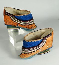 Antique pair of Chinese Lotus Shoes for bound feet.