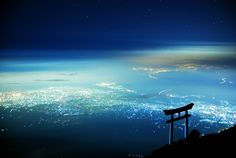 天空の鳥居の画像(写真) 富士山. Sky Torii, Mt Fuji.
