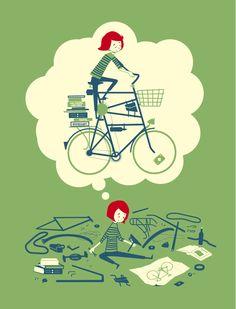 @Kate Mazur Allen Pedal Art Poster. #bike #poster