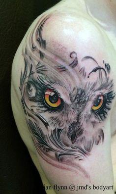 Owl Tattoo by Ian Flynn