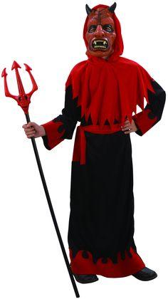 Déguisement diable sinistre garçon : Ce déguisement de diable sinistre pour garçon se compose d'une robe, d'une capuche, d'un masque et d'une ceinture (fourche et chaussures non incluses). La robe...