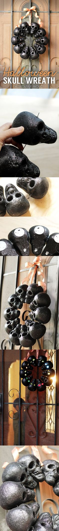 With Halloween just around the corner, we thought it's about time we take look into creepy crafts, such as these DIY Skull projects. These DIY skull ideas will be great for decorating your home or giving your October outfits that touch of horror! Halloween School Treats, Halloween Party Supplies, Halloween Home Decor, Halloween 2017, Diy Halloween Decorations, Holidays Halloween, Easy Halloween, Halloween Crafts, Halloween Wreaths