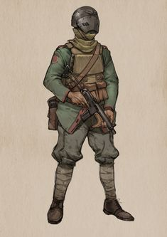 ArtStation - Fighting in trenches, yuanyuan L Character Concept, Character Art, Steampunk Armor, Apocalypse Art, Arte Cyberpunk, Star Wars Rpg, Armor Concept, Sci Fi Characters, Military Art