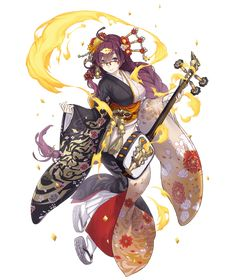 Game Character Design, Fantasy Character Design, Character Concept, Character Inspiration, Character Art, Concept Art, Anime Kimono, Dnd Characters, Fantasy Characters