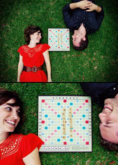 Instead of the scrabble board, maybe bright wooden letters saying the date! the top picture save the date, and the date on the bottom