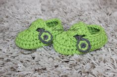 Crochet baby boy booties tutorial