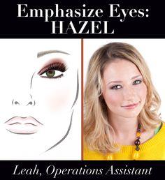 Emphasize Eyes: Hazel | Leah, Sigma Operations Assistant. Get the look: http://www.sigmabeautytalk.com/2012/11/09/emphasize-eyes-hazel/