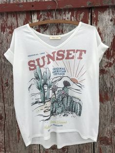 Sunset Cactus Top