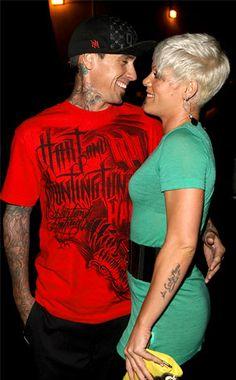 Pink and Carey Hart :)