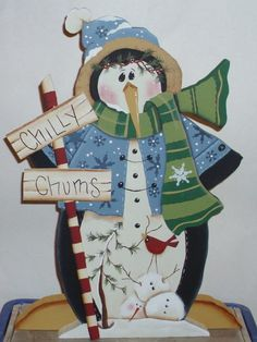 Decorative Tole Painted CHILLY CHUMS PENGUIN by KellysCountryStore, $18.50