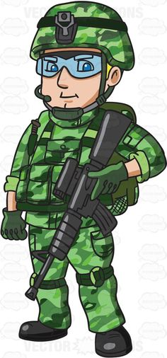 A US Special Forces Soldier #cartoon #clipart #vector #vectortoons #stockimage #stockart #art