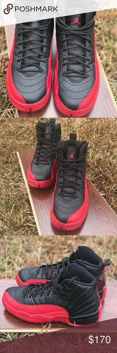 "🔥Air Jordan 12 Retro (GS) ""Flu Game"" 2016🔥 Air Jordan Retro 12 (GS) ""Flu Game""🔥 2016 Worn Once✨ Excellent Condition🚨 •Authentic• Air Jordan Shoes Sneakers"