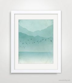 Ocean Abstract Landscape Beach Cottage Decor Nautical by evesand, $18.00