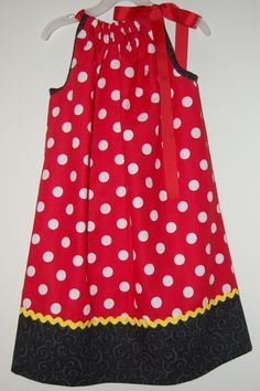 Mickey Mouse pillowcase dress-Perfect for sister's outfit at her brother's party